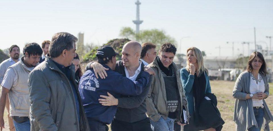Recorrida de Larreta y promesa de urbanización en la Villa 20