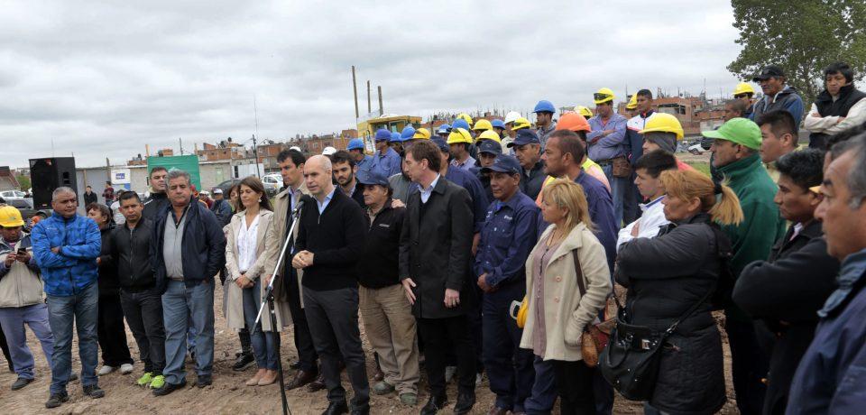 Se iniciaron las obras de integración urbana en la Villa 20