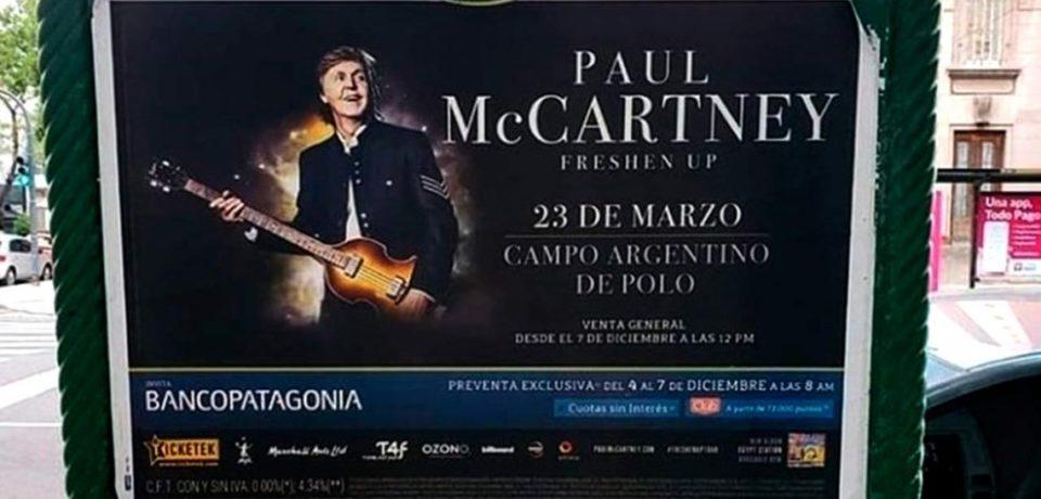 """Vuelve McCartney a la Argentina: """"Se viene otra memorable experiencia en camino"""""""