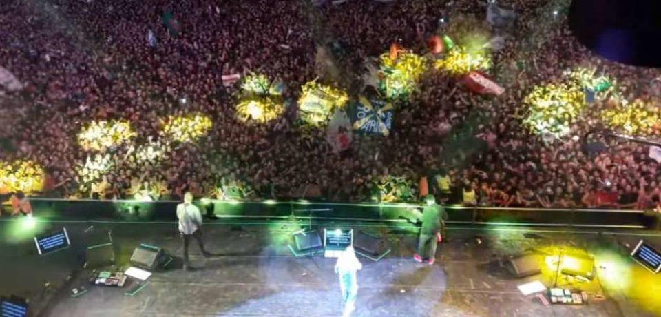 Se filtró el video del show del Indio en Olavarría